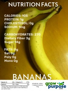 NUTRITION FACTS BANANAS