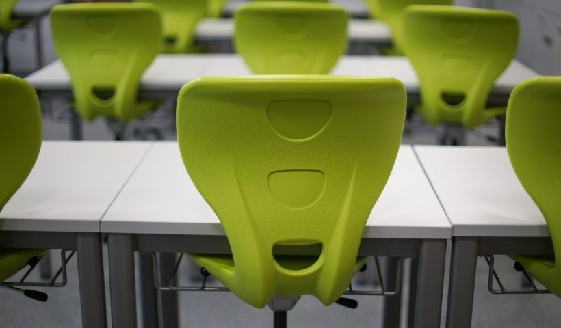 green-school-desk