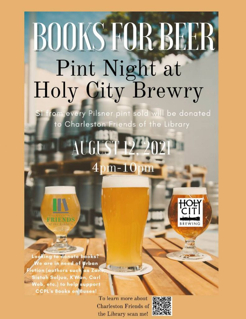 Books for Beer Holy City Flyer