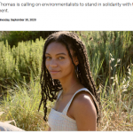 What is 'intersectional environmentalism'?