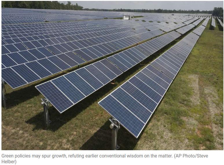 Screenshot-green policies and economic growth