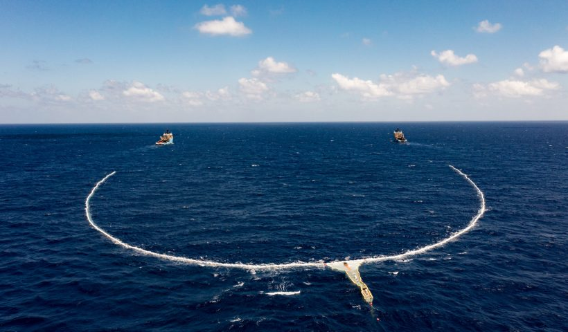 The Ocean Cleanup Deploys Full-Scale System to The Great Pacific Garbage Patch